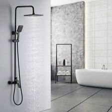 Schwarz Duschsystem Regendusche Duschset Handbrause Kopfbrause Duscharmatur Bad