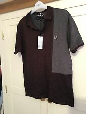 Fred Perry Short Sleeve Cotton Blend Men's Casual Shirts & Tops
