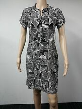 NEW - Intermission - Size 10 - Short Sleeve Printed Dress - Black / White - $69