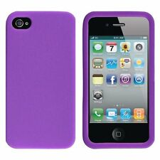 Silicone Skin Case for iPhone 4 / 4S - Purple