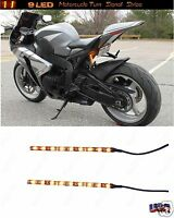 2 Chrome Motorcycle LED TURN Signals Blinker Flasher Flush Footrest Mid Control