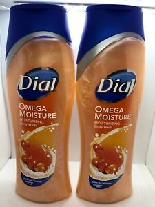 Lot of 2 Dial Omega Moisture Rich Body Wash, Omega Packed Sea Berries 16 oz