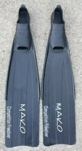 MAKO COMPETITION FREEDIVER FINS Size 8-9 (42, 43).