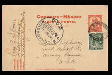 FOREIGN Mexico to Muncy Pennsylvania 1944 Postcard