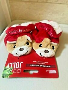 Christmas Booties Dog Puppy Infants Be Jolly NEW