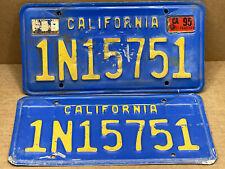 """RARE PAIR PICK-UP TRUCK """"DMV CLEAR"""" 70/80s (CALIFORNIA)  1N15751  LICENSE PLATE"""