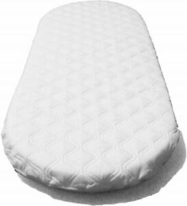 79 X 46 cm Quilted Baby Crib Mattress Fits Wicker Moses Basket Cradle Pram UK
