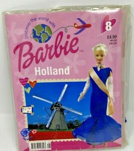 Discover The World With Barbie Holland  Clothes Outfit Blue Dress Set  Mattel