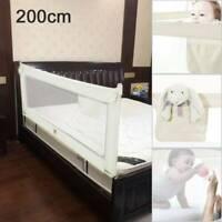 Adjustable Bed Guard Toddler Safety Baby Bedguard Folding Metal Rail 200cm