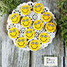 """12 Soccer Smile Pins 1.25"""" PIN BACK BUTTONS BADGES Face Mask Flair pinback USA"""