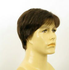 Perruque homme 100% cheveux naturel châtain ref FRED 6spw