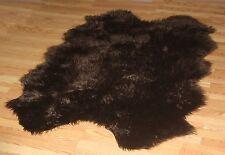 DARK BROWN Faux fur Sheepskin QUATRO Pelt rug 4' x 6'