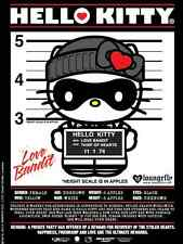 SANRIO LOUNGEFLY HELLO KITTY LOVE BANDIT CAT BURGLER THIEF POSTER BANNER SIGN