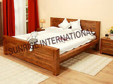 Wooden King Size Double Bed  with Groove design !