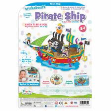 Fiesta Crafts Stickabouts Pirate Ship Reusable Sticker Toy
