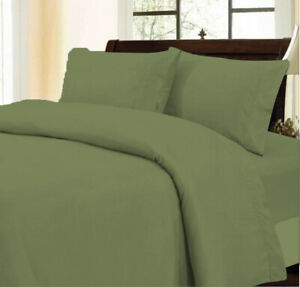 Egyptian Cotton Glamorous Moss Duvet Collection Solid Select Item & AU Size