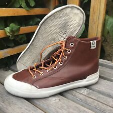 HUF Brown Leather Lace-Up Hightop Sneakers - Size 5 (US)