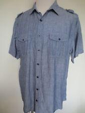 """jeans"" Hemd OLD NAVY Classic FIT XL mit Leinen hellblau TIP TOP /Q"
