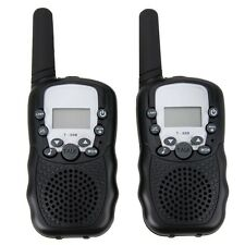 Mini Walkie Talkie 2 Vías Radios Interfono Manual CB UHF Par T388 Negro2 piezas