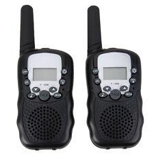 Mini Walkie Talkie 2 Vías Radios Interfono Manual CB UHF Par T388 Negro2 piezas
