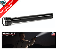 Maglite Flashlight 4 D-Cell Battery Incandescent Aluminum Hang Heavy Duty Black
