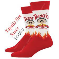 Socksmith Men's Crew Socks Novelty Footwear Tapatio Hot Sauce Cool Foot Apparel