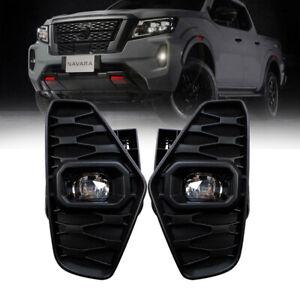 LED Fog Lamps Lights For Nissan NAVARA 2021+ Nueva D23 facelift Pro-4X NP300 SET