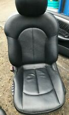 MERCEDES CLK W209 CONVERTIBLE LEFT FRONT SEAT LEATHER BLACK SRS MEMORY ELECTRIC
