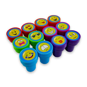 """Stempel-Set für Kinder """"SMILEYS"""" mit 12 selbstfärbenden bunten Stempeln"""