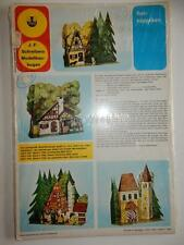 VINTAGE CUT N & ASSEMBLE MODEL PAPER GERMAN COTTAGE SCHREIBERS MODELLBAU BOGEN
