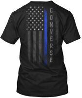 Converse Family Thin Blue Line Flag Hanes Tagless Tee T-Shirt