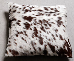 NEW COW HIDE LEATHER​ CUSHION COVER RUG COW SKIN Cushion Pillow Covers C-3882