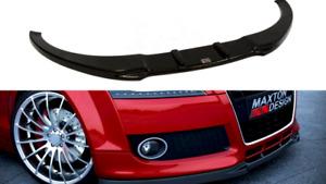 MAXTON FRONT SPLITTER FOR AUDI TT MK2(STANDARD BUMPER)(GLOSS BLACK)(2006-14)