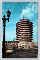 Hollywood CA, The Capitol Tower, Chrome California c1961 Postcard