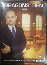 DRAGONS' DEN DVD THE COMPLETE BBC FIRST & SECOND SERIES 4 DVD BOX SET SHARK TANK