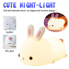 Cute Lamp Silicone Nursery For Kids Baby Night Light Multicolor Room Decor Bunny