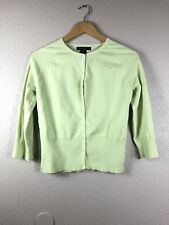 Apostrophe Stretch Size M (10-12) Yellow Green Button Front Sweater Women's