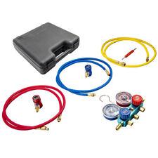 R1234yf Hvac Air Conditioning Manifold Gauge Set With72 Turning Knobs Tool Kit