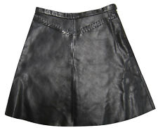DARYL K - 189 Black Leather Skirt, size 4