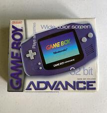 Nintendo GAME BOY ADVANCE Console BOX Indigo Purple *NO CONSOLE!*