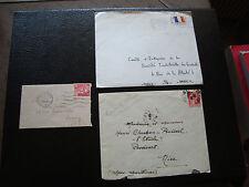 FRANCE - 3 enveloppes (cy80) french