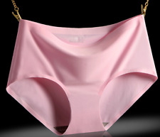 Sexy Miss Seamless Panties Ice Silk Women's Pink Panties Size L