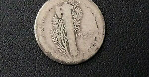 1916-D KEY DATE MERCURY DIME - SEE PICTURES - AG CONDITION