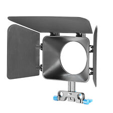 New DSLR Matte Box For 15mm Rail Rod Suppot Focus Rig 60D 5DII