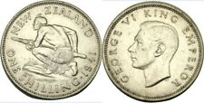 New listing elf New Zealand 1 Shilling 1941 Silver World War Ii