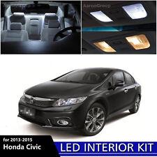 6PCS White Interior LED Light Package Kit for 2013 - 2015 Honda Civic