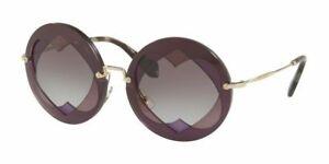 Miu Miu Sunglasses SMU01S BOL3E2 62MM lilac Pink/Grey Violet Shaded Sunglasses