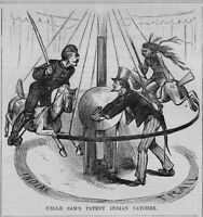 UNCLE SAM'S PATENT INDIAN CATCHER CAVALRY SOLDIER ON MERRY-GO-ROUND CAROUSEL