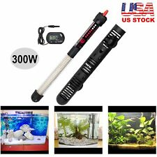 Aquarium Heater 300W Watts Submersible Fish Tank Freshwater Saltwater 40-60 Gal