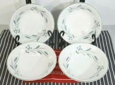 4 Johnson Bros Snowhite Autumn Song Coupe Cereal Bowls Blue Wheat 1940's EXC+
